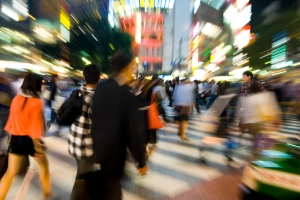 Tokyo Crossing at Night